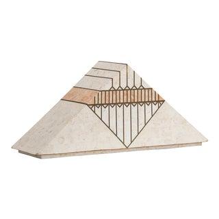 A Casa Bique designed Tessellated Stone Pyramid Box 1980s