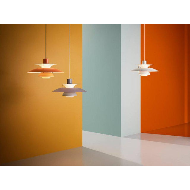 Poul Henningsen Ph 5 Pendant for Louis Poulsen in Red For Sale - Image 9 of 13