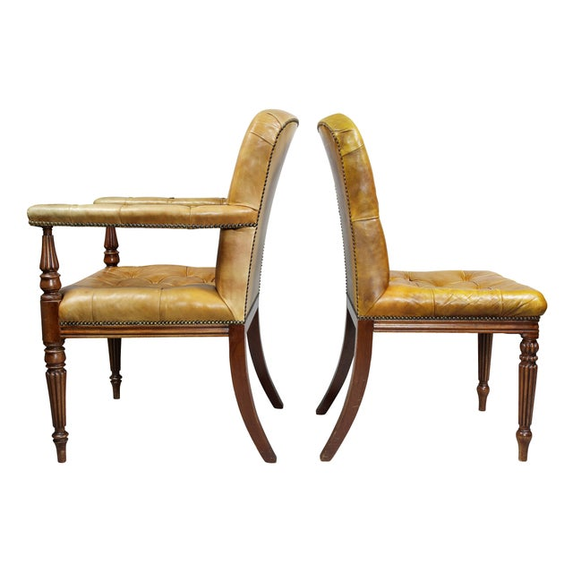 Regency Style Mahogany Dining Room / Conference Room Chairs - Set of 20 For Sale - Image 9 of 11