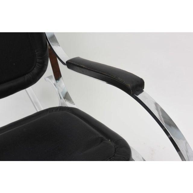 Maison Jansen French Modern Polished Nickel Rocking Chair, Maison Jansen For Sale - Image 4 of 4