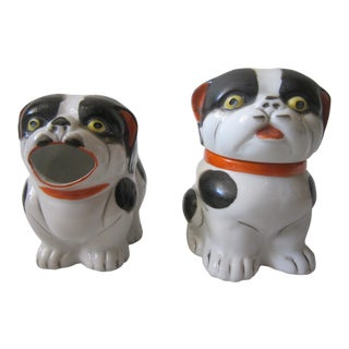 1960s Japanese Vintage Dog Sugar and Creamer - a Pair For Sale