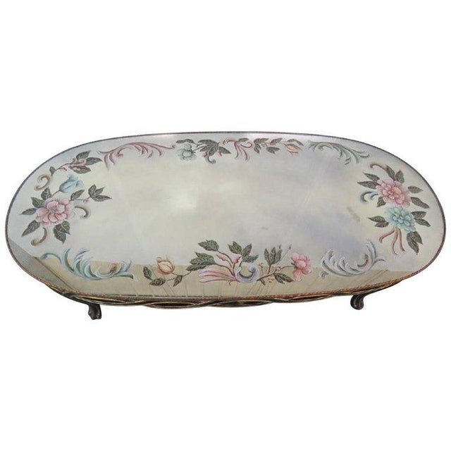 Brown Regency Style Églomisé Coffee Table For Sale - Image 8 of 8