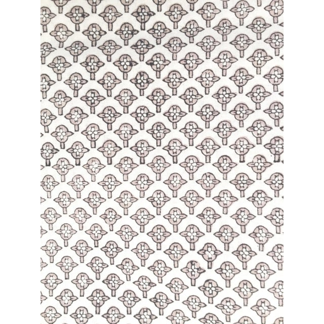 European Handmade Block Print Tablecloth For Sale - Image 5 of 7