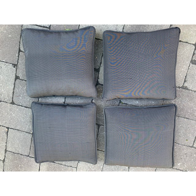 Custom Made Robert Allen Fabric Decorative Pillows - Set of 4 For Sale In Providence - Image 6 of 6