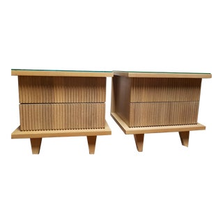 Mid-Century Bedside Nightstands - A Pair For Sale
