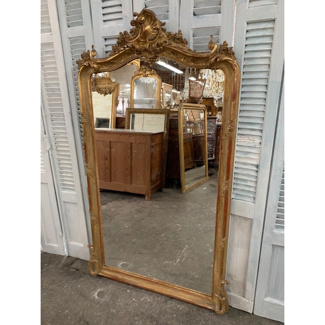 Glass 18th Century Original Grand Louis Philippe Style Mirror For Sale - Image 7 of 10