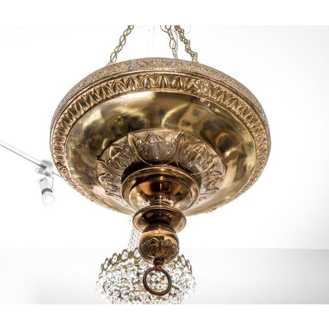 Brass Gothic Revival Chandelier 1920s England For Sale - Image 11 of 13