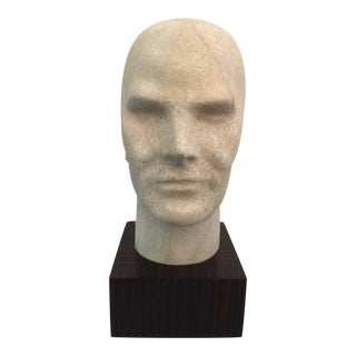 Ivory Shagreen Male Bust on Macassar Base For Sale