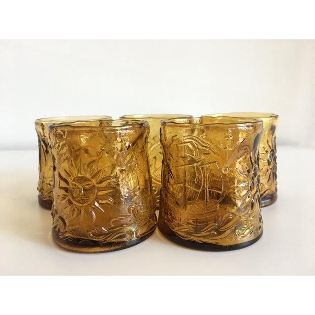 Vintage Italian Amber Glass Tumblers - Set of 5 - Image 4 of 9