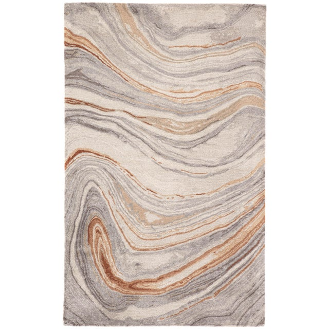 Jaipur Living Atha Handmade Copper/ Gray Area Rug - 8′ × 11′ For Sale In Atlanta - Image 6 of 6