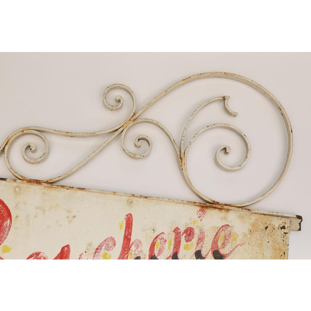 French Vintage French Boucherie Charcuterie Shop Sign For Sale - Image 3 of 7