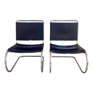 Vintage Mies Van Der Rohe Mr10 Chairs - a Pair For Sale