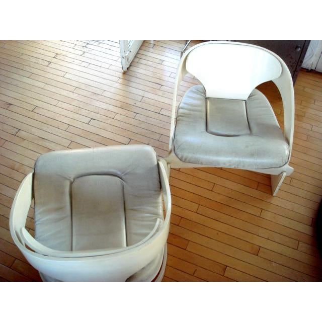 Joe Colombo Bent Plywood Chairs - A Pair For Sale In Los Angeles - Image 6 of 7