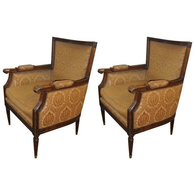 Gold Pair of Louis XXI Style Armchairs by Maison Jansen For Sale - Image 8 of 8