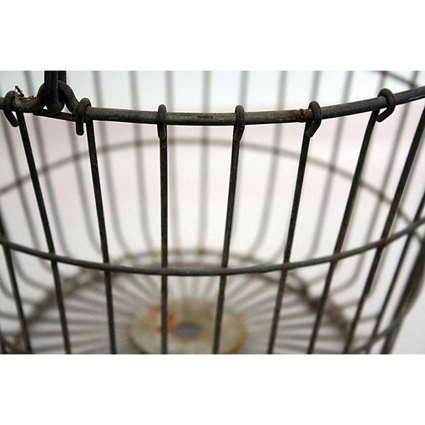 Vintage Round Wire Handle Basket - Image 4 of 4