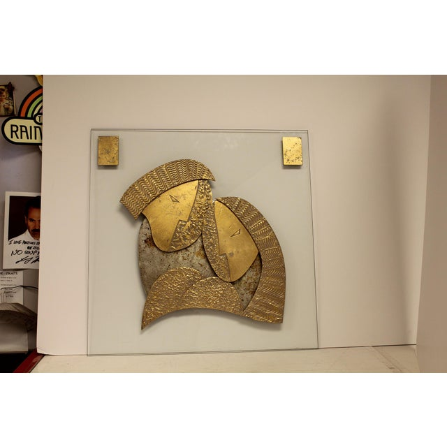 Metal Modern Wall Sculpture by David Marshall For Sale - Image 7 of 7