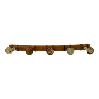 French Faux Bamboo Coat/Hat Rack For Sale