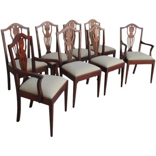 Antique American Hepplewhite Dining Chairs - Set of 8