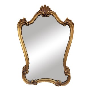 Vintage French Rococo Style Mirror For Sale