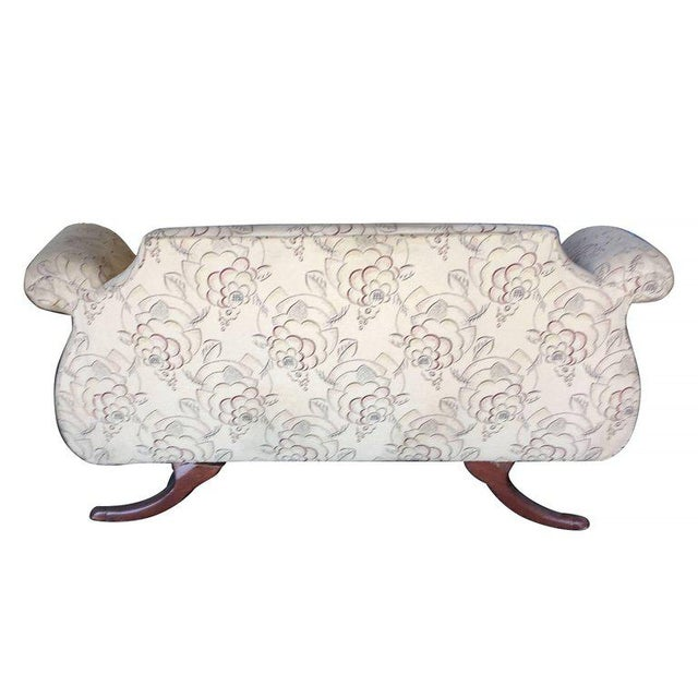 Duncan Phyfe Style Love Seat Settee with Scrolling Arms For Sale - Image 5 of 9