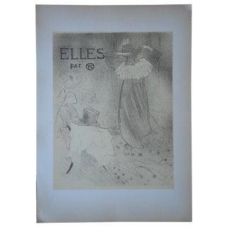 """Lautrec Vintage """"Elles"""" Lithograph For Sale"""