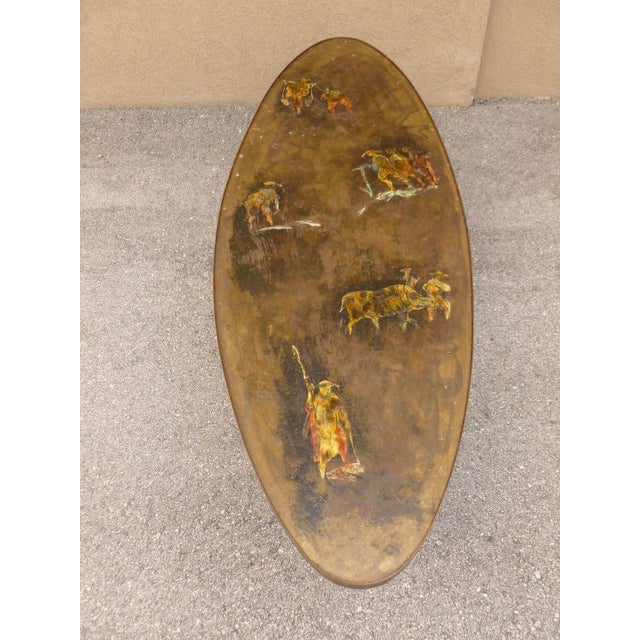 Gold 1960's Vintage Philip and Kelvin Laverne Chinese Design Bronze Coffee Table For Sale - Image 8 of 13