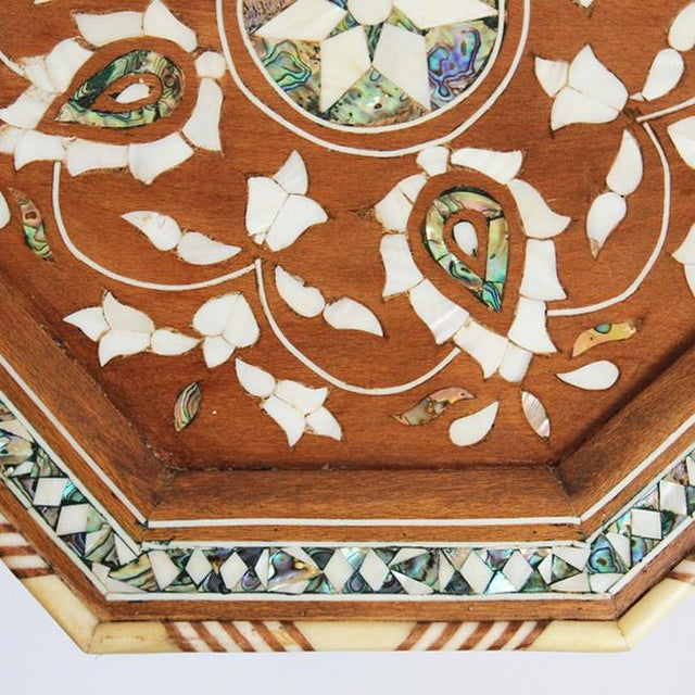 Moroccan Inlay Side Table For Sale - Image 5 of 5