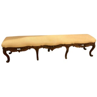 18th Century Rococo Window or Bedside Bench For Sale