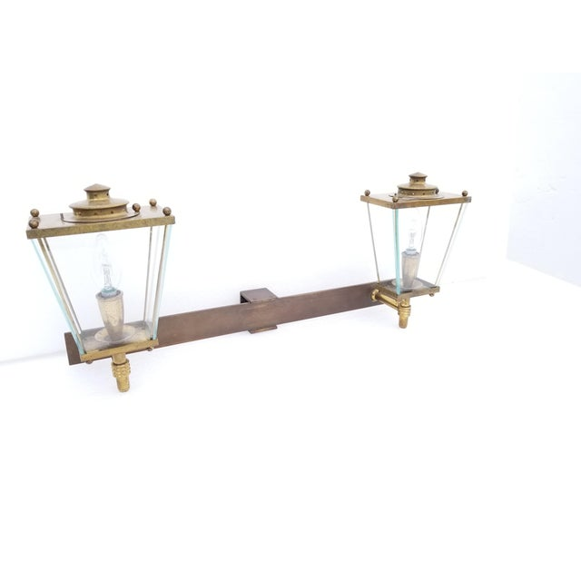 Large French Bronze 2 Lights Sconce Circa 1950's For Sale - Image 9 of 9