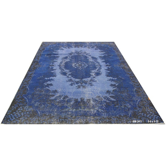 "Vintage Overdyed Turkish Rug - 6'6"" X 9'10"" - Image 1 of 6"