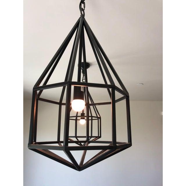 Contemporary Black Teardrop-Shape Lanterns - a Pair For Sale - Image 4 of 9