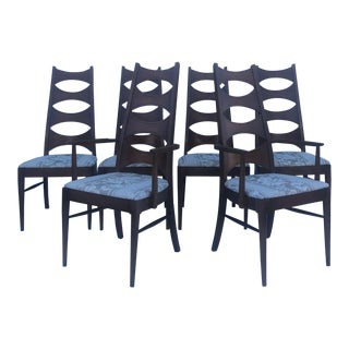 Mid Century Modern Kent Coffey Perspecta Dining Chairs - Set of 6 For Sale