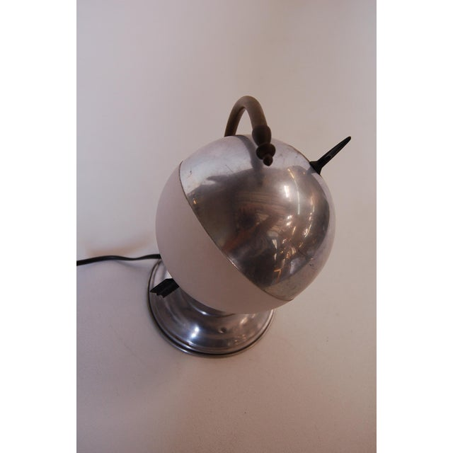 "Art Deco Aluminum Globe ""Saturn"" Swiveling Table Lamp For Sale - Image 4 of 8"