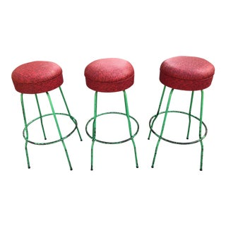 Mid-Century Swivel Counter Stools- Set of 3 For Sale