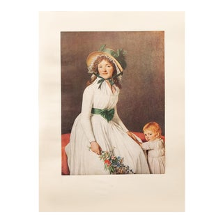 "Jacques-Louis David ""Madame Seriziat"", 1940s First Edition Neoclassical Swiss Photogravure For Sale"