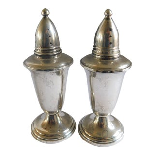 Mid Century Crown Sterling Salt and Pepper Shakers - a Pair For Sale