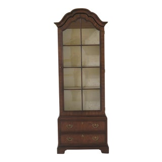 1960s Traditional Kittinger 1 Door Mahogany Curio Display Cabinet For Sale