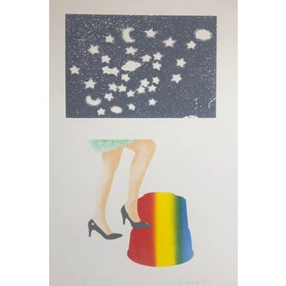 """Stepping in an Alternate Universe"" Pop Art Serigraph by Roger Benedetti, 1977 For Sale"