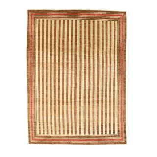 "Modern Pakistani Gabbeh Area Rug - 8′ X 10'10"" For Sale"