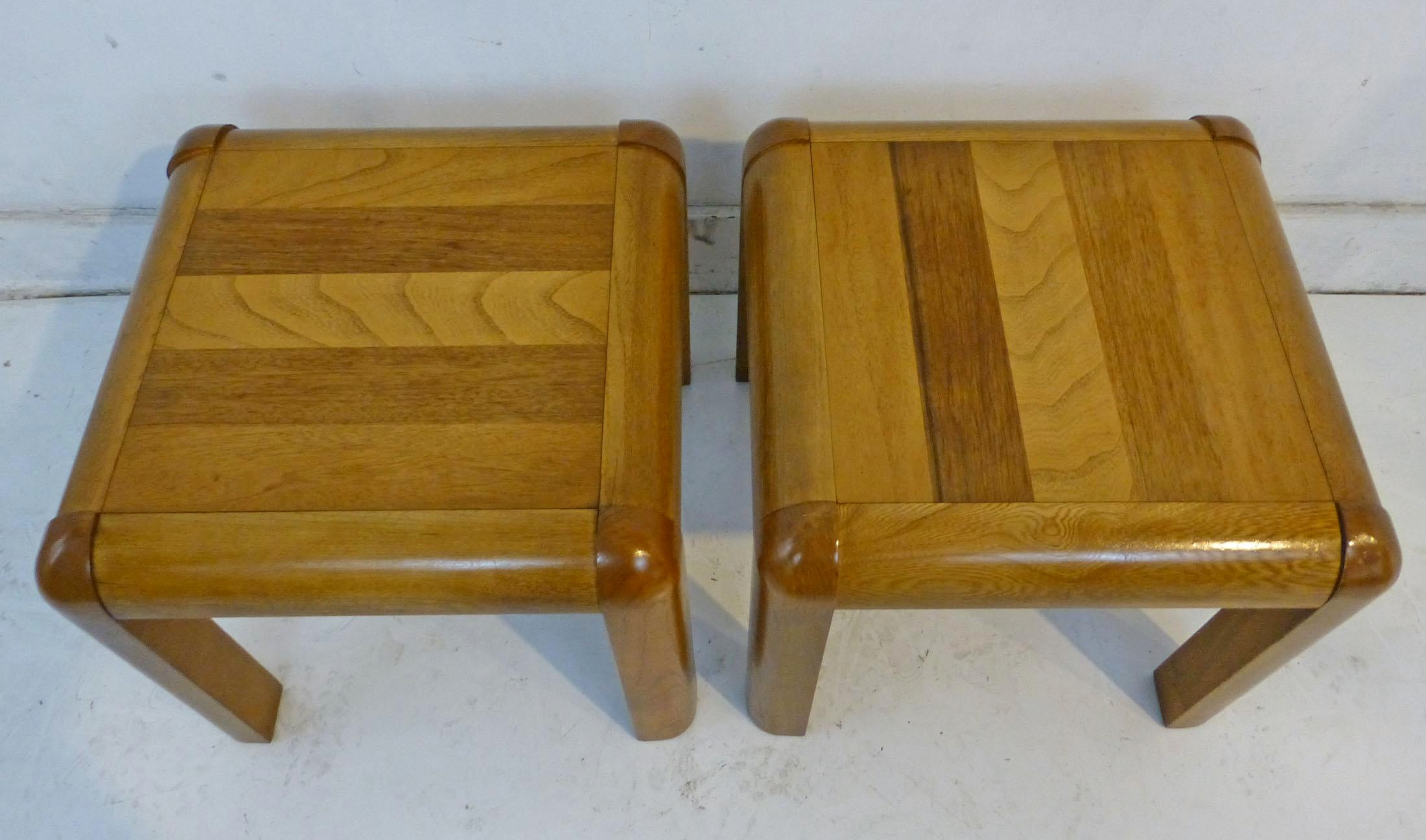 Mid Century Modern Vintage Lane End Tables   A Pair   Image 7 Of 8