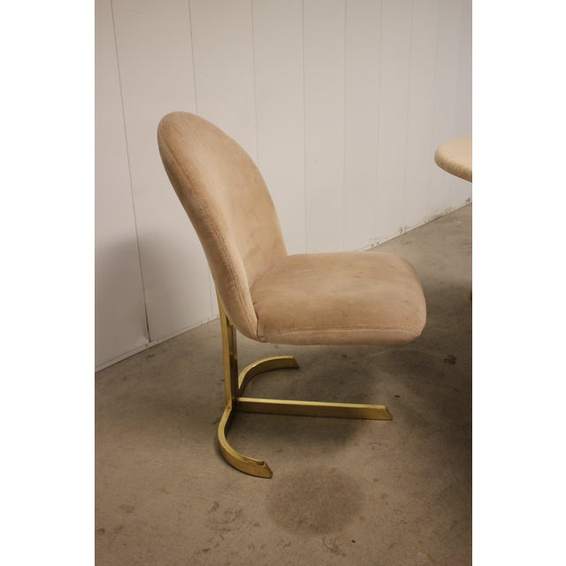 Mid-Century Modern Space Age Milo Baughman Style Dining Room Table & Chairs For Sale - Image 3 of 13