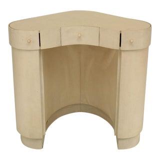 1930s Italian Art Deco Parchment Veneered Dressing Table For Sale