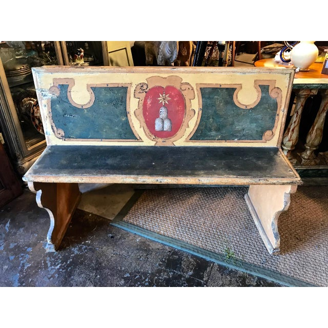 Late 18th Century Italian Tuscan Bench For Sale - Image 9 of 9
