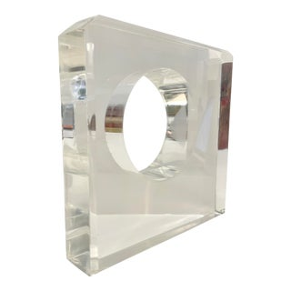 1970s Vintage Square Lucite Sculpture For Sale