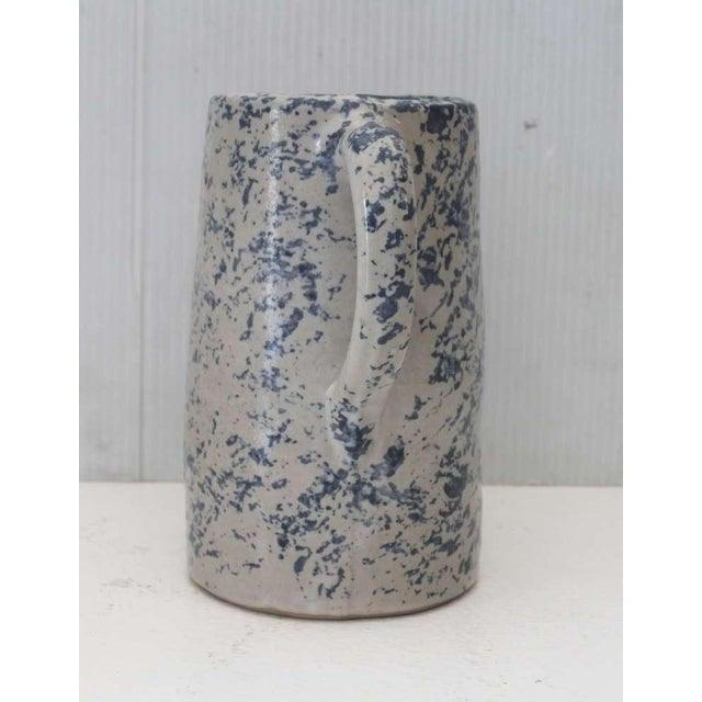 19th Century Spongeware Pottery Speckled Pitcher For Sale - Image 4 of 8