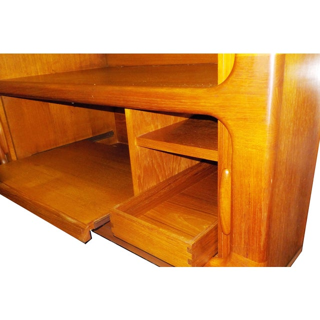 MCM Teak Cabinet With Tambour Doors by Dyrlund For Sale - Image 5 of 8