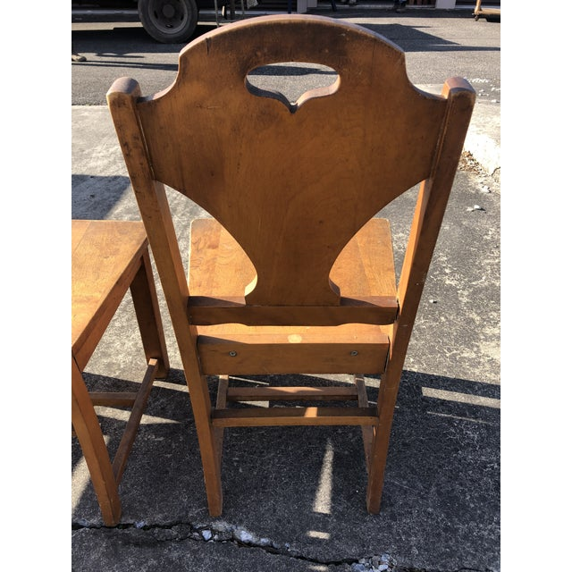 Art Deco Style Wooden Side Dining Chairs -Set of 4 For Sale - Image 12 of 13