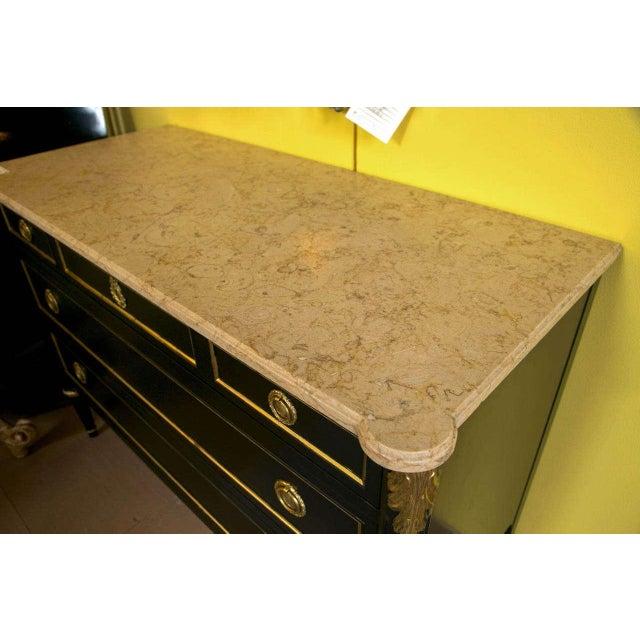 Maison Jansen Ebonized Marble-Top Commode - Image 9 of 10