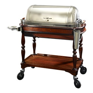 Christofle & Cie. Silver Meat Trolley For Sale