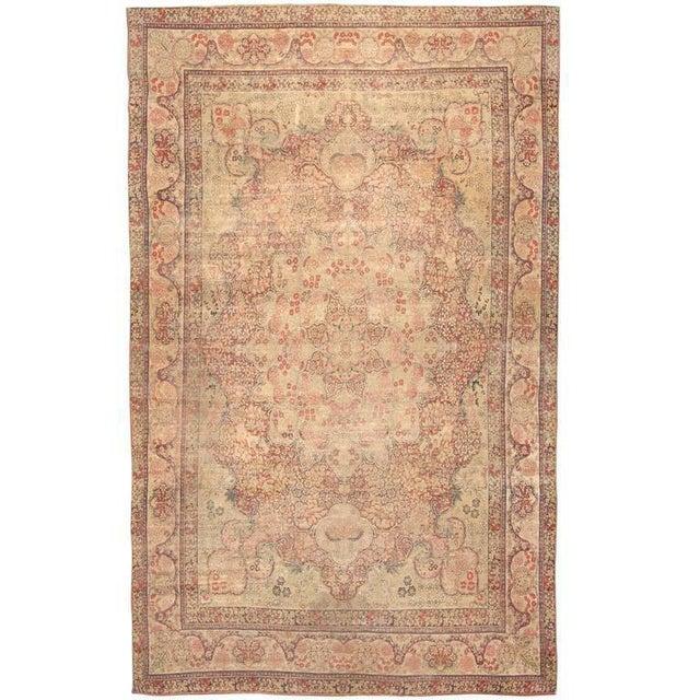 Antique 19th century, Persian Lavar carpet. Contact dealer.